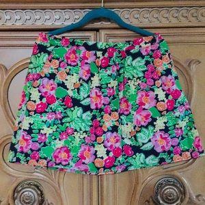 Lilly Pulitzer Getaway Garden Floral Skirt nwot M